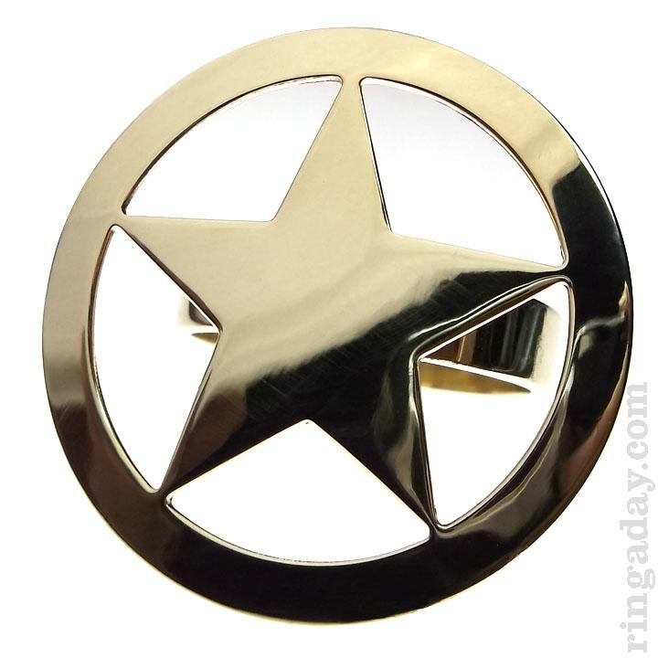 brass Sherif ring