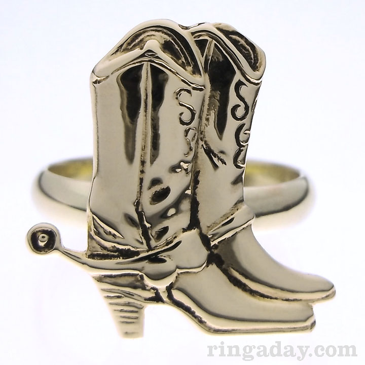 These boots brass ring